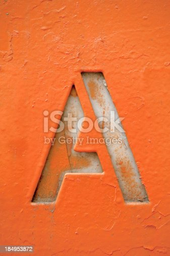istock Grunge Letter A 184953872