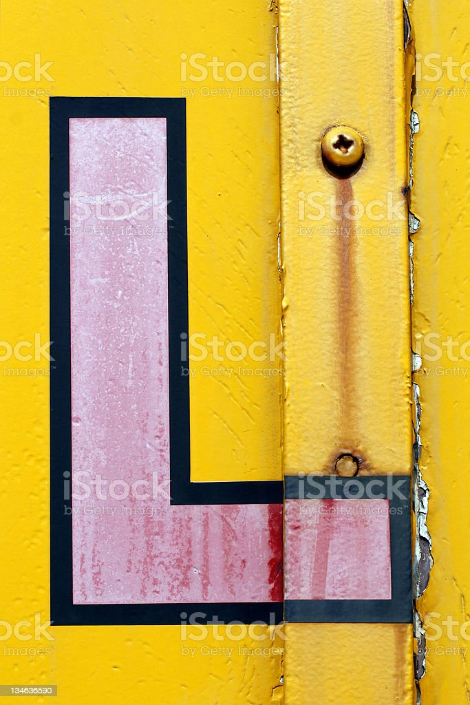 Grunge Letter L stock photo