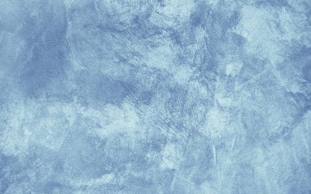 grunge light blue painted stucco background - paint texture stock pictures, royalty-free photos & images