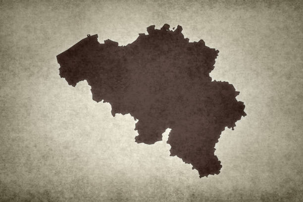 Grunge map of Belgium stock photo
