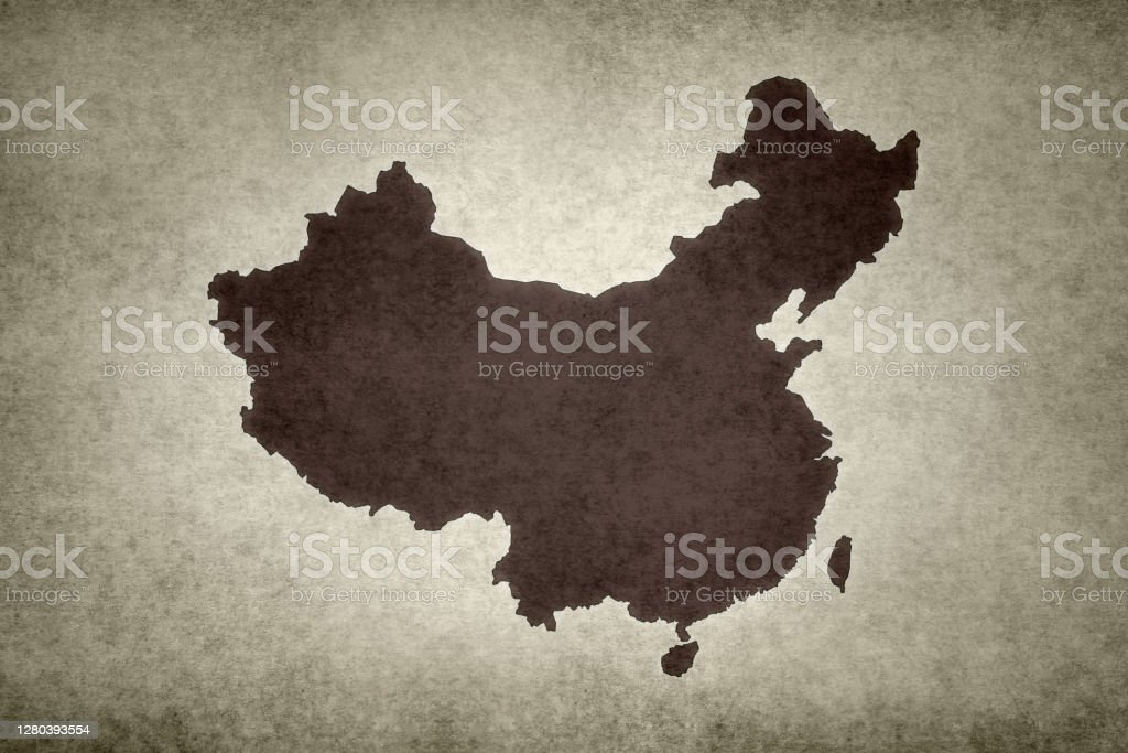 Grunge map of China Grunge map of China (including Taiwan) printed on an old paper. Abstract Stock Photo