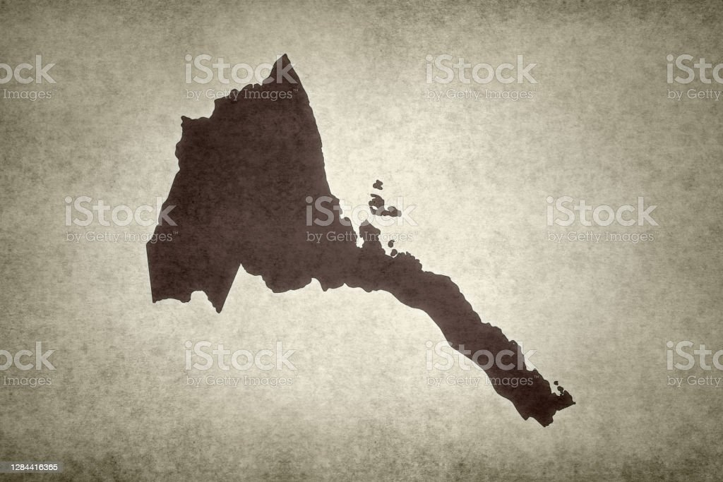 Grunge map of Eritrea Grunge map of Eritrea printed on an old paper. Abstract Stock Photo