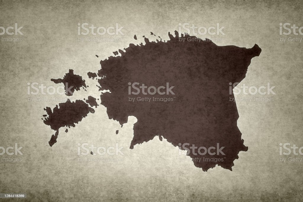 Grunge map of Estonia Grunge map of Estonia printed on an old paper. Abstract Stock Photo