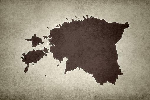 Grunge Map Of Estonia Stock Photo - Download Image Now