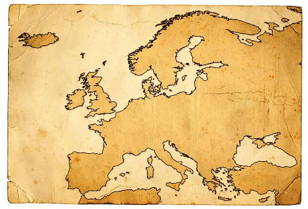 Grunge Karte von Europa – Foto