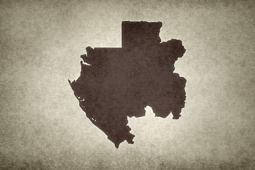 Grunge Map Of Gabon Stock Photo - Download Image Now