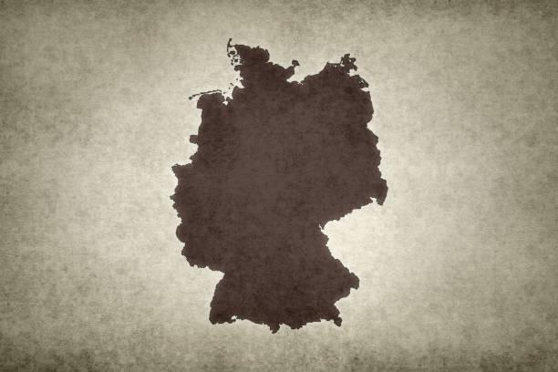 Grunge map of Germany stock photo