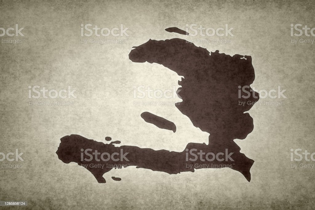 Grunge map of Haiti Grunge map of Haiti printed on an old paper. Abstract Stock Photo