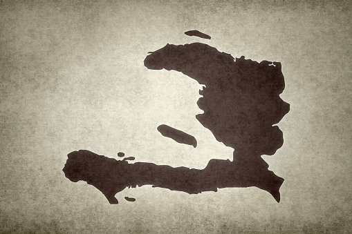 Grunge Map Of Haiti Stock Photo - Download Image Now
