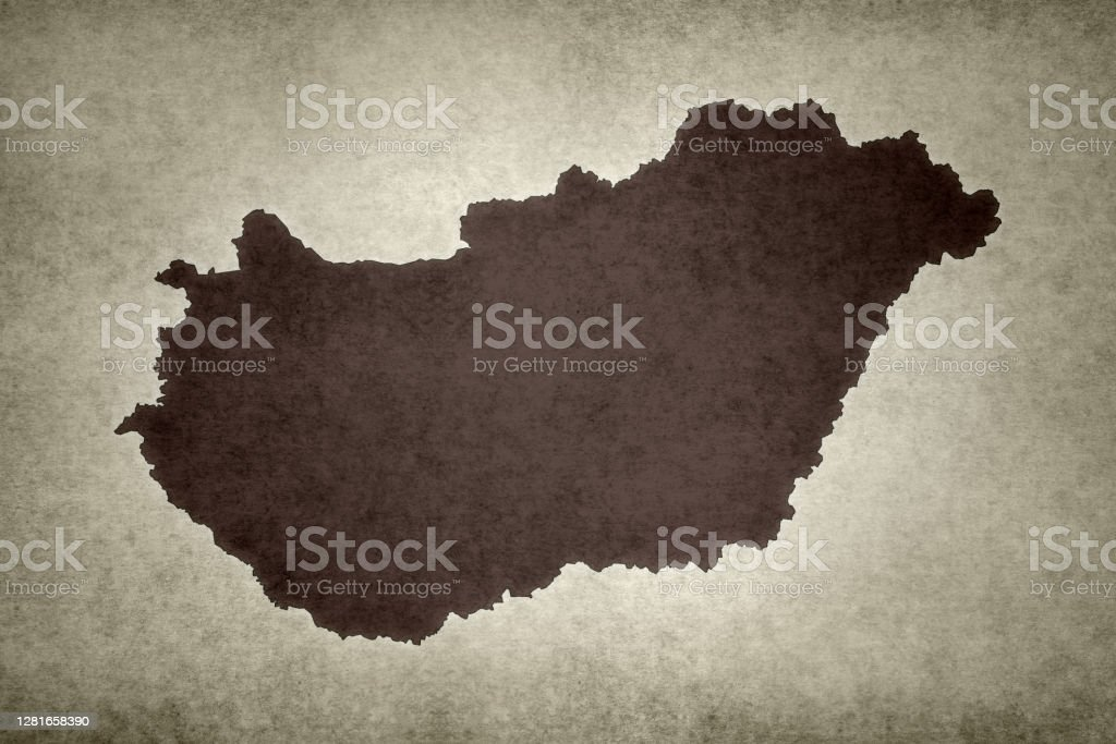 Grunge map of Hungary Grunge map of Hungary printed on an old paper. Abstract Stock Photo