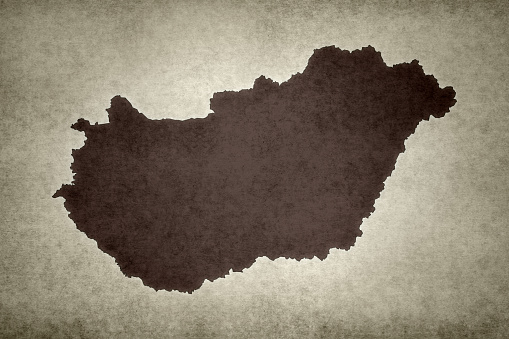 Grunge Map Of Hungary Stock Photo - Download Image Now