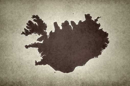 Grunge Map Of Iceland Stock Photo - Download Image Now
