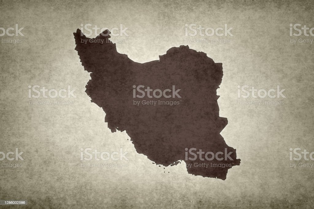 Grunge map of Iran Grunge map of Iran printed on an old paper. Abstract Stock Photo