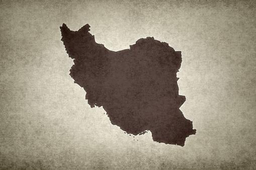 Grunge Map Of Iran Stock Photo - Download Image Now