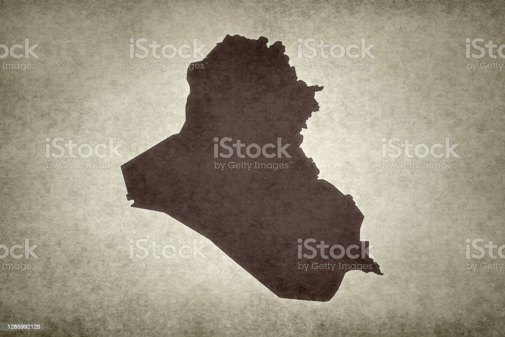 Grunge map of Iraq Grunge map of Iraq printed on an old paper. Abstract Stock Photo