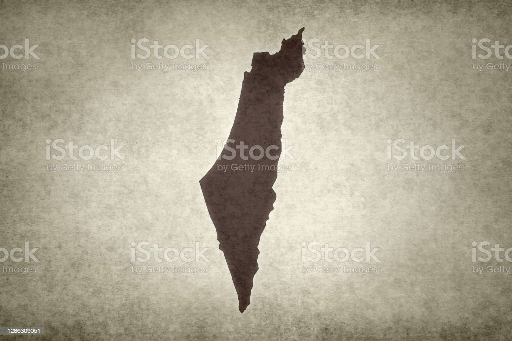 Grunge map of Israel Grunge map of Israel printed on an old paper. Abstract Stock Photo