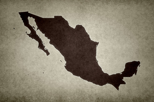 Grunge Map Of Mexico Stock Photo - Download Image Now