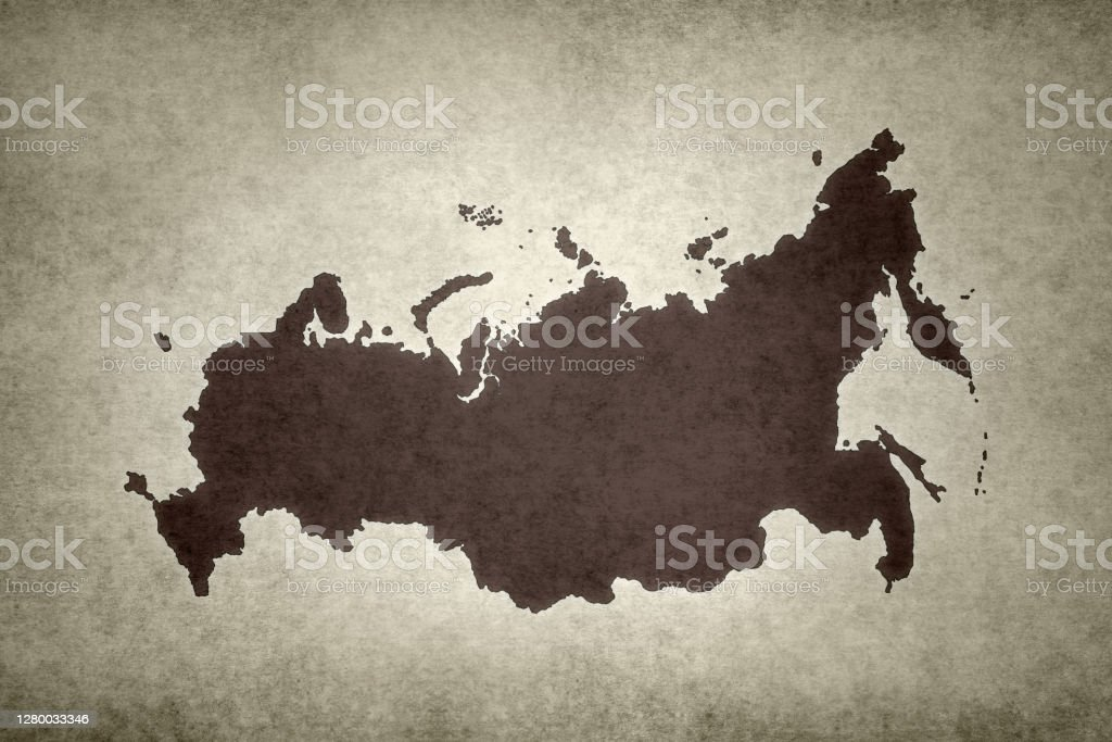 Grunge map of Russia Grunge map of Russia printed on an old paper. Abstract Stock Photo
