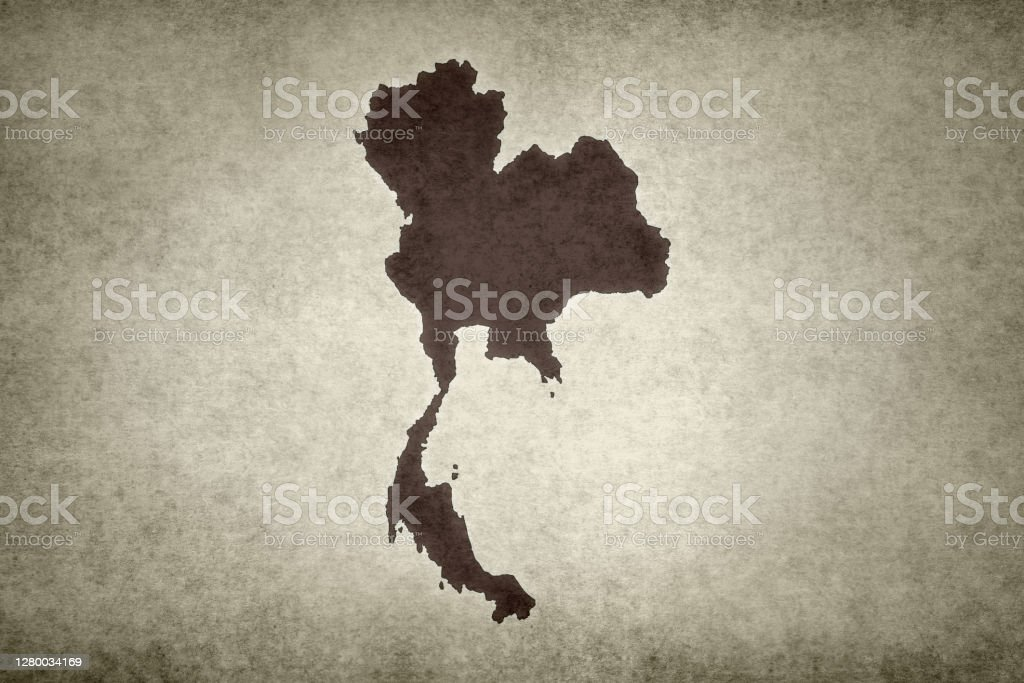 Grunge map of Thailand Grunge map of Thailand printed on an old paper. Abstract Stock Photo
