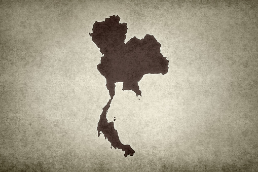Grunge Map Of Thailand Stock Photo - Download Image Now