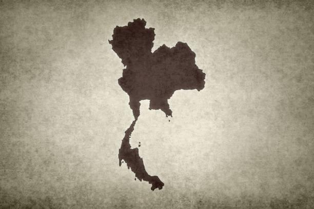 Grunge map of Thailand stock photo