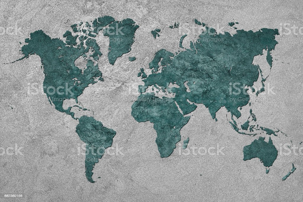 Grunge Map of the World. Vintage style. royalty free stockfoto