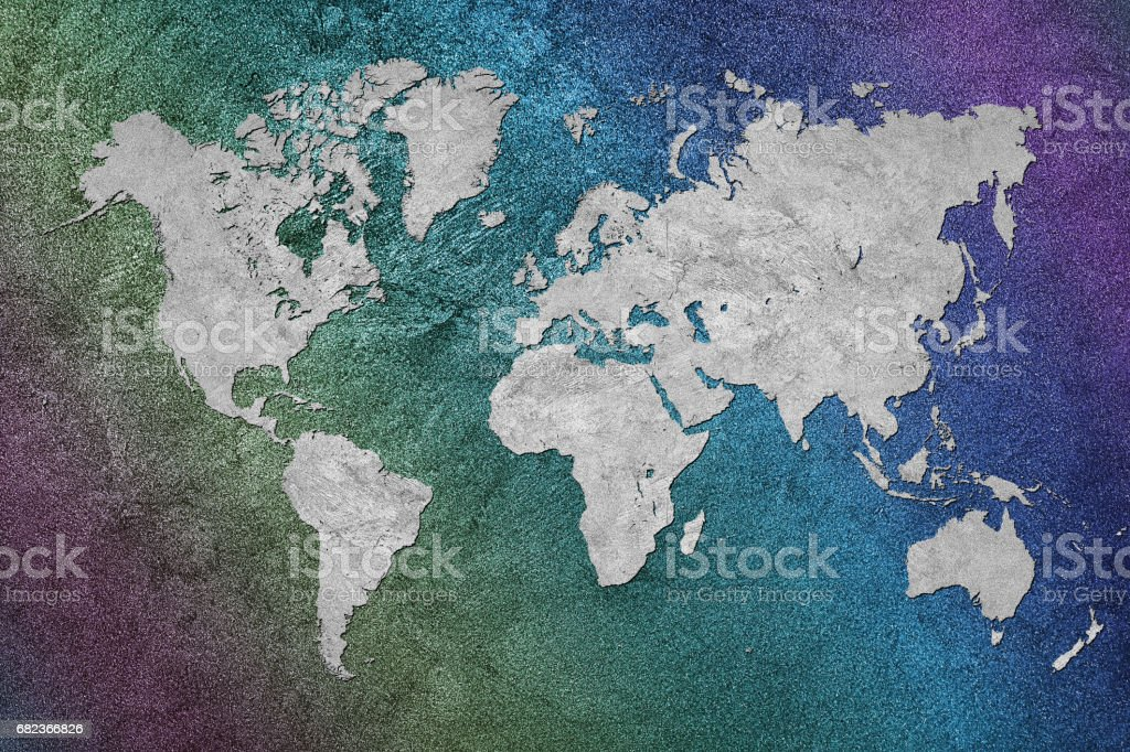 Grunge Map of the World. Vintage style. royaltyfri bildbanksbilder