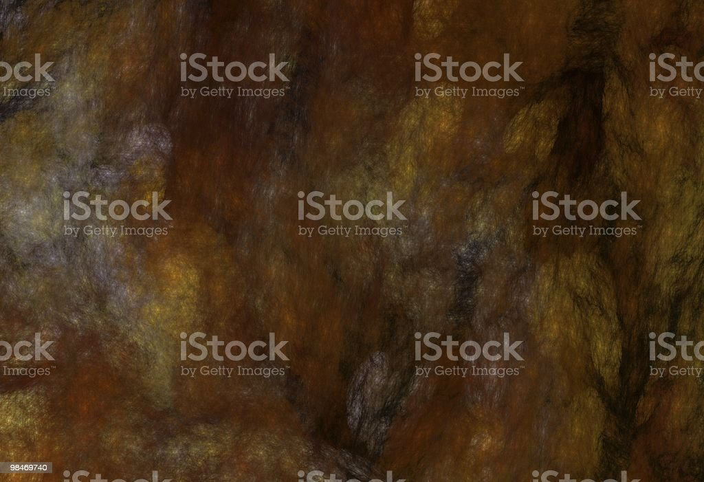 Grunge Marbled Fractal Pattern in Rust and Black royalty-free stock photo