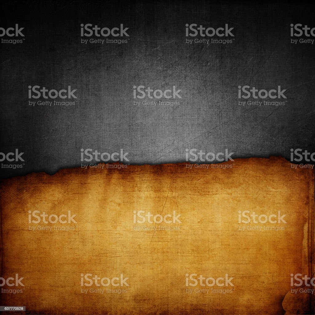 Grunge metal and paper background stock photo