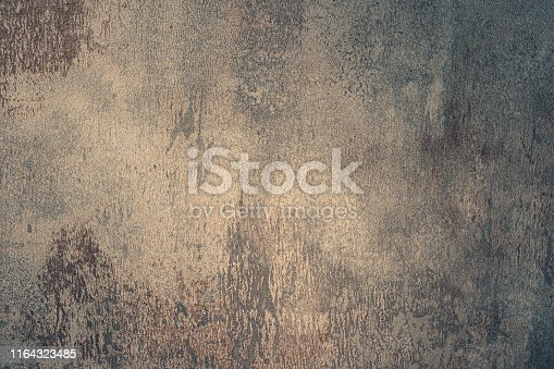 istock Grunge metal background or texture with scratches and cracks. 1164323485