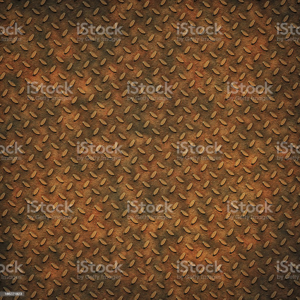 Grunge metal diamond plate background or texture royalty-free stock photo