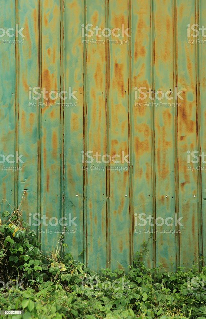 Grunge Metal Wall stock photo