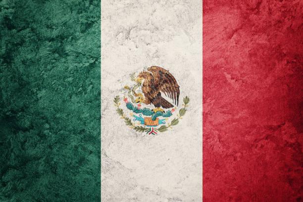 bandera de méxico de grunge. bandera mexicana con textura grunge. - bandera mexico fotografías e imágenes de stock