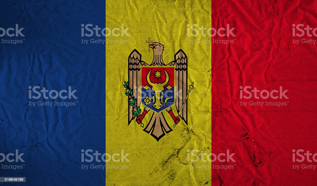 Grunge Moldovan flag stock photo