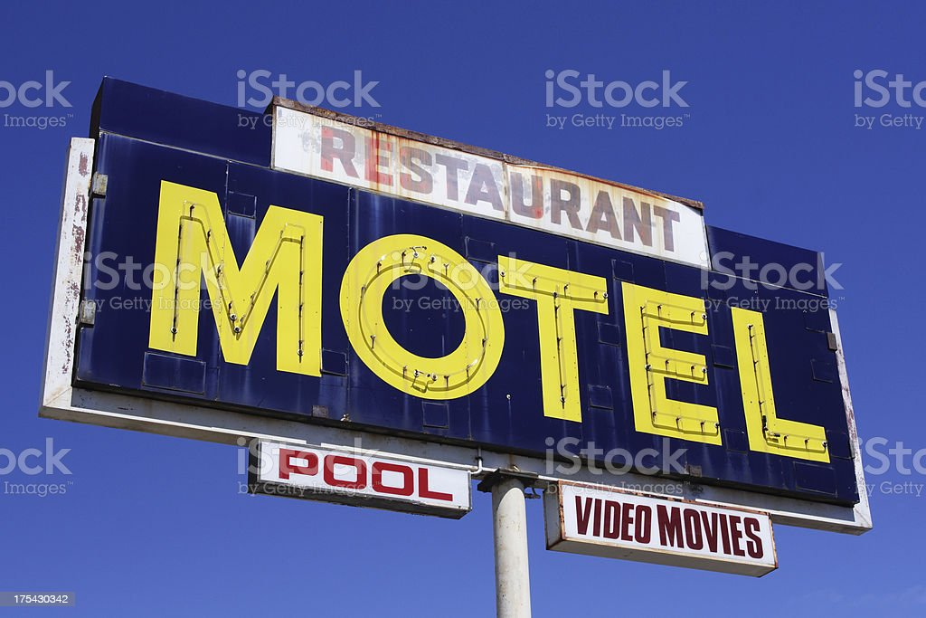 grunge motel stock photo