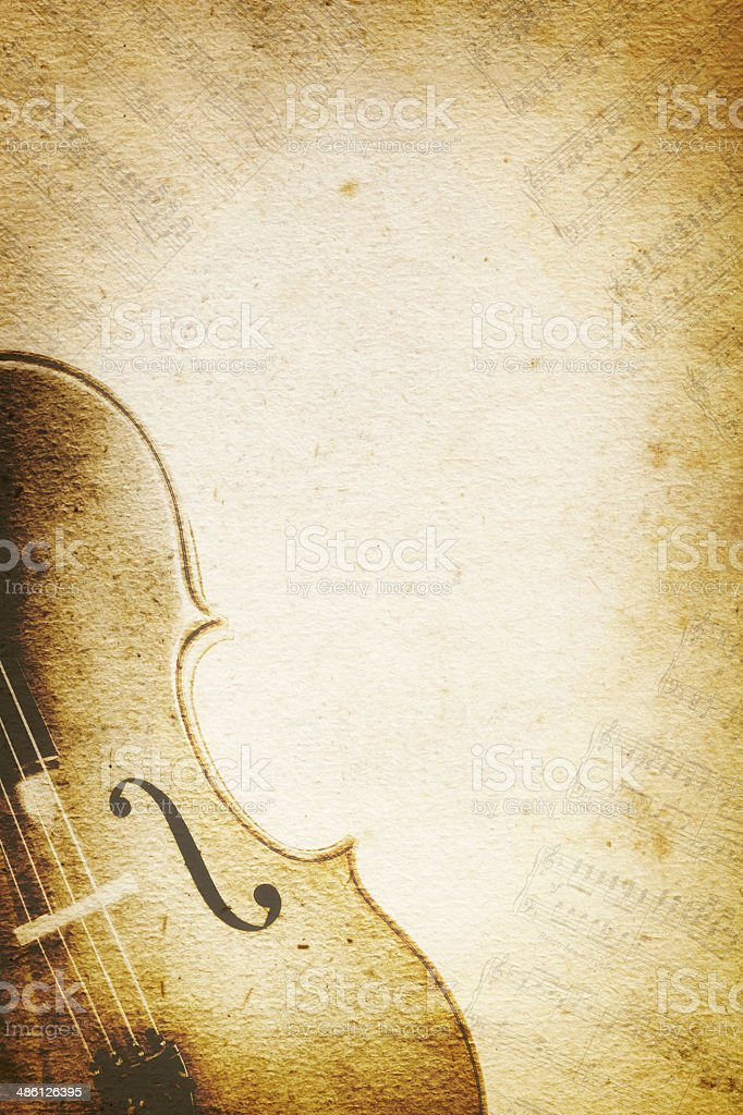 Grunge Music Background with Cello royalty-free stock photo