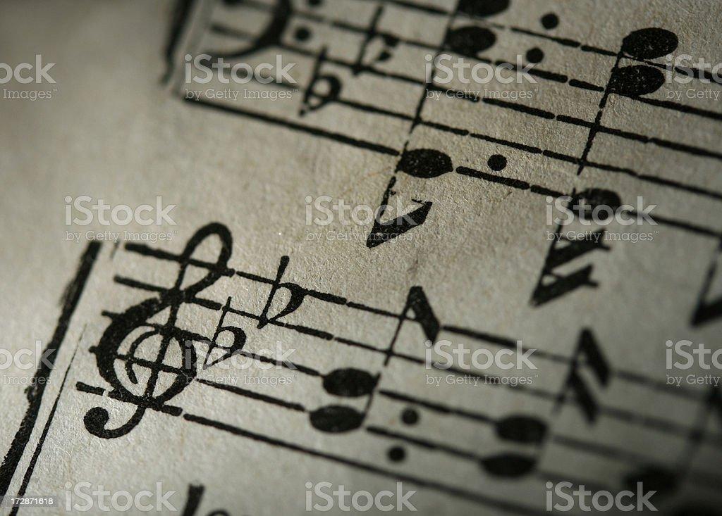 Grunge Music Notes stock photo