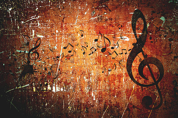 grunge musik hintergrund-muster - tastatur bilder stock-fotos und bilder