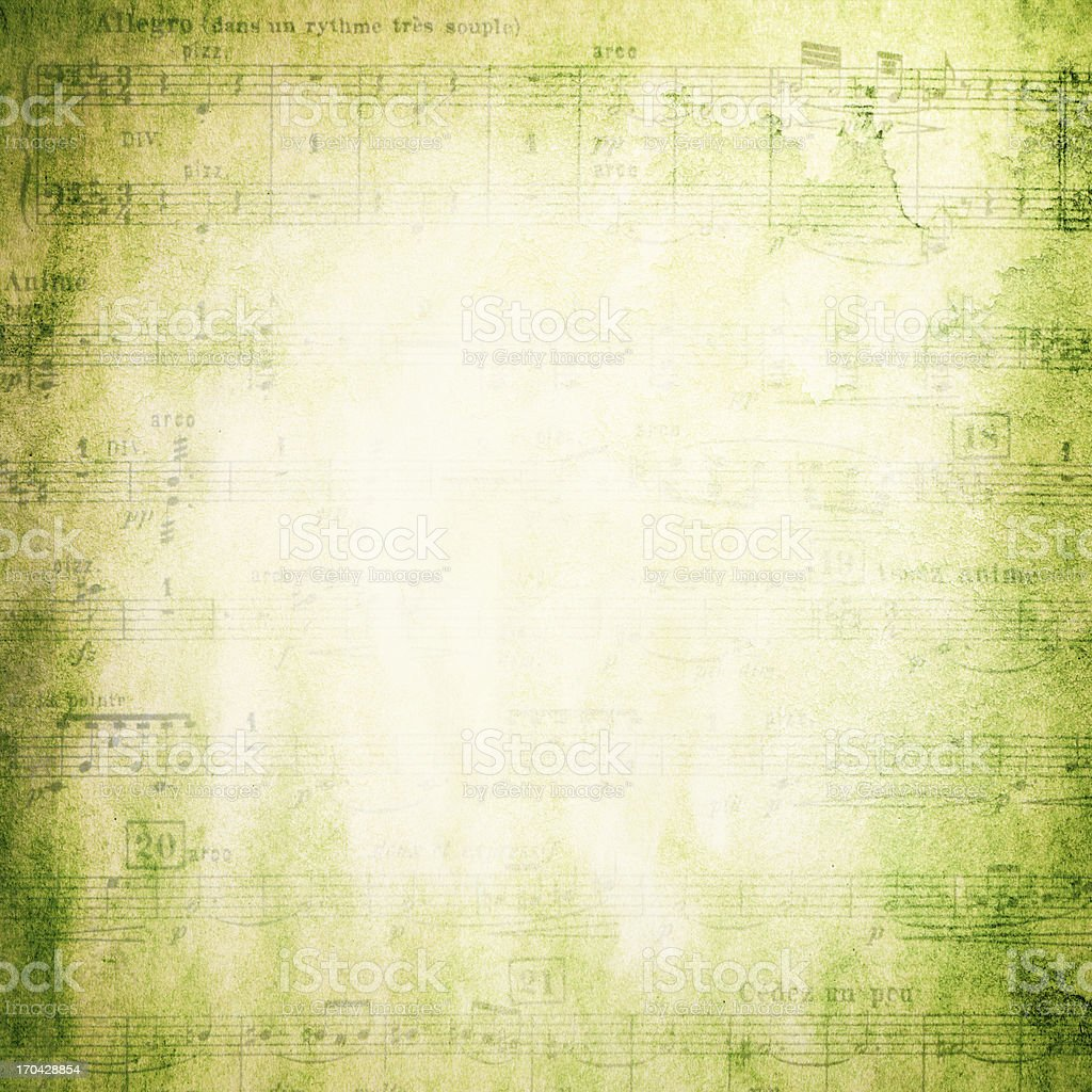 Grunge Musical Note Page background textured royalty-free stock photo