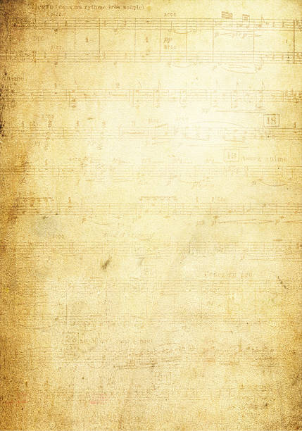 Grunge Musical Note Page background textured Grunge Musical Note Page background textured sheet music stock pictures, royalty-free photos & images