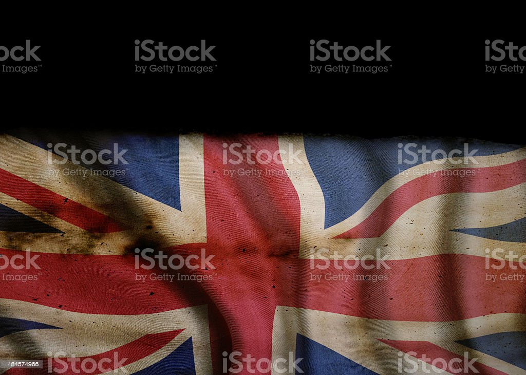 Grunge National Flag of Great Britain stock photo