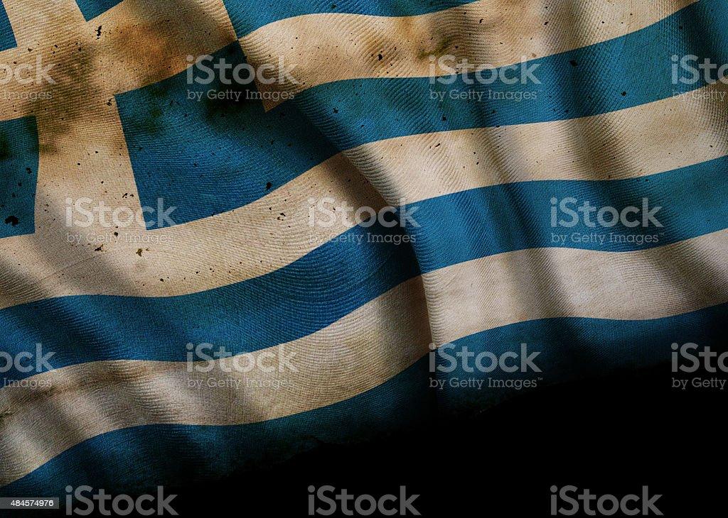 Grunge de bandera nacional de Grecia - foto de stock