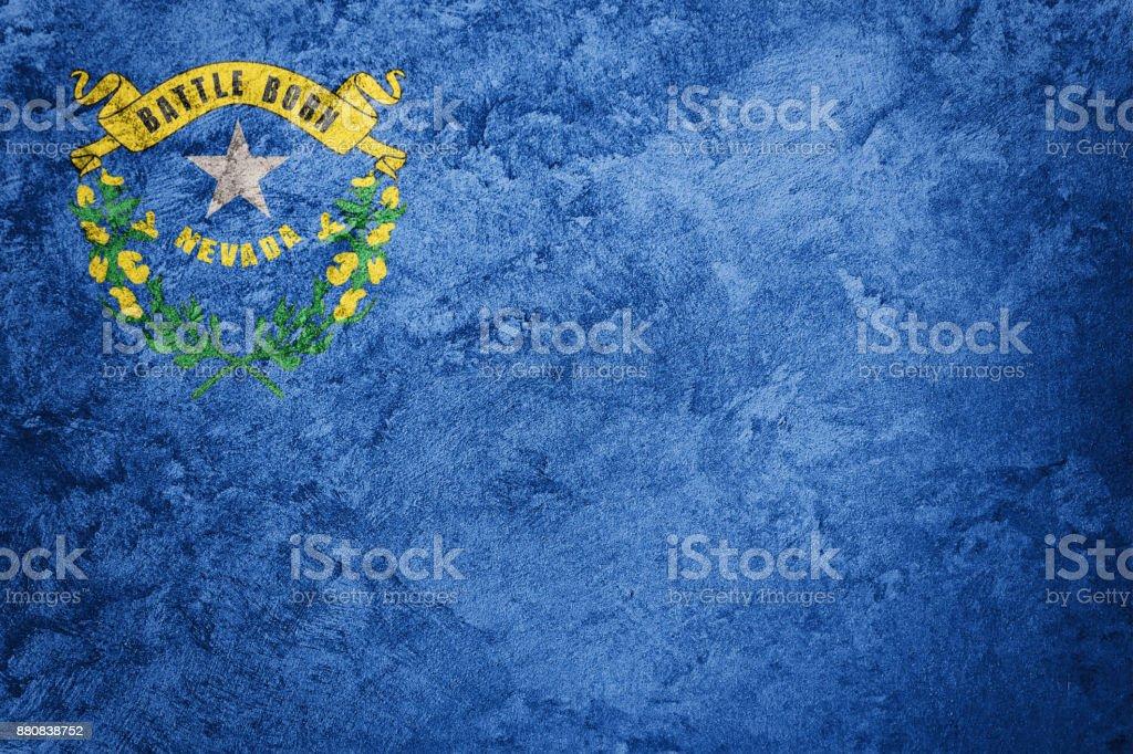 Bandeira de estado de Nevada grunge. Bandeira de Nevada fundo textura grunge. - foto de acervo