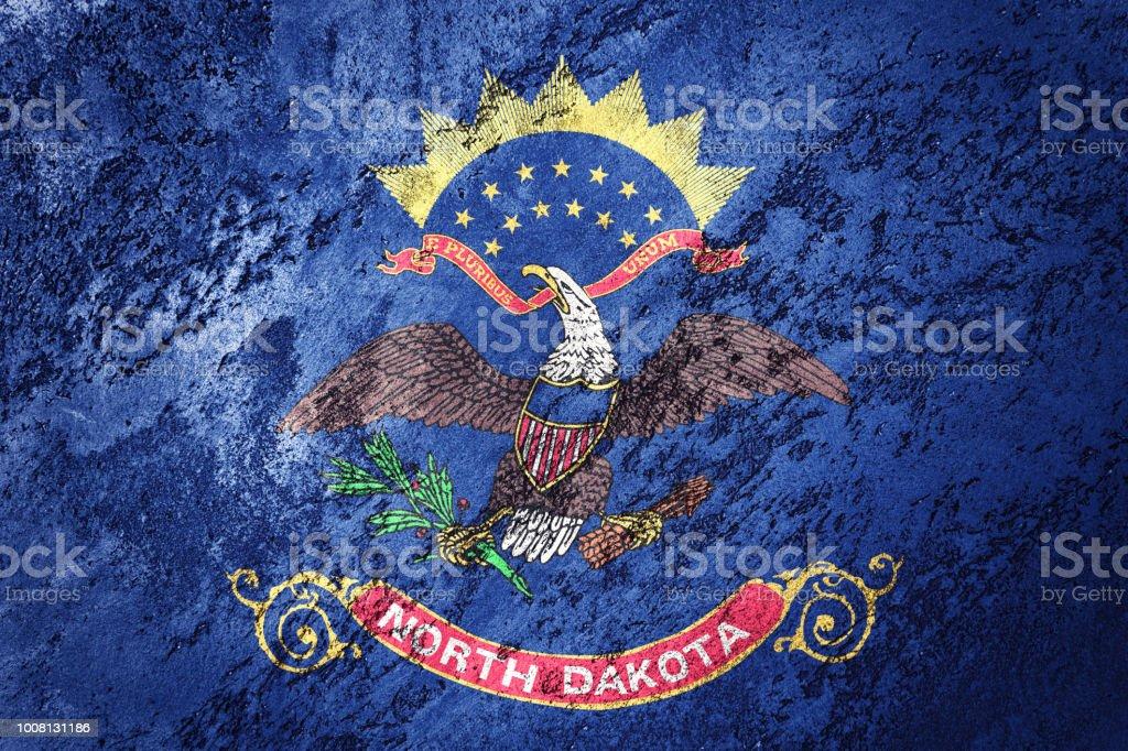Grunge North Dakota State Flag North Dakota Flag Background Grunge