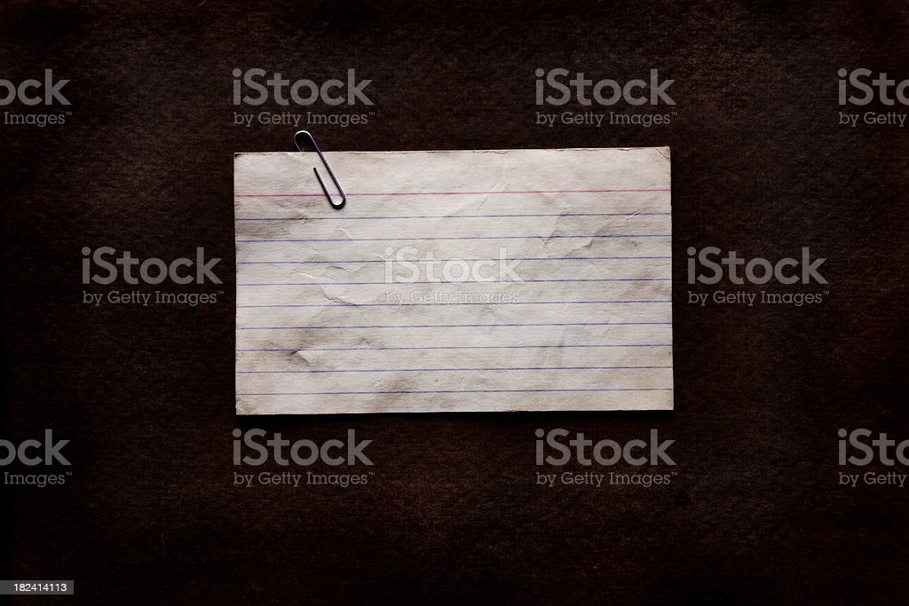 grunge note card stock photo
