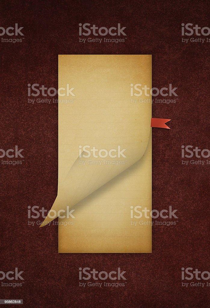 Grunge Note Pad royalty-free stock photo