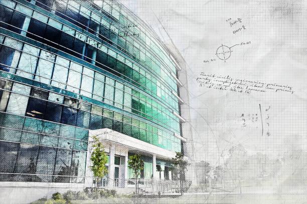 Grunge-Bürogebäude – Foto