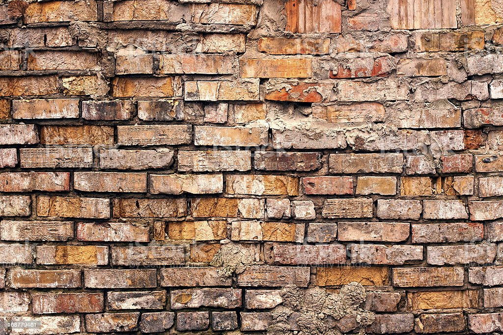 Grunge old brick wall royalty-free stock photo