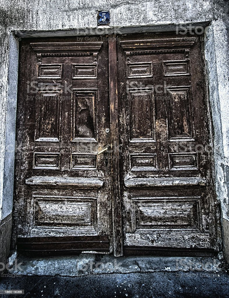 grunge old house home vintage wooden door royalty-free stock photo