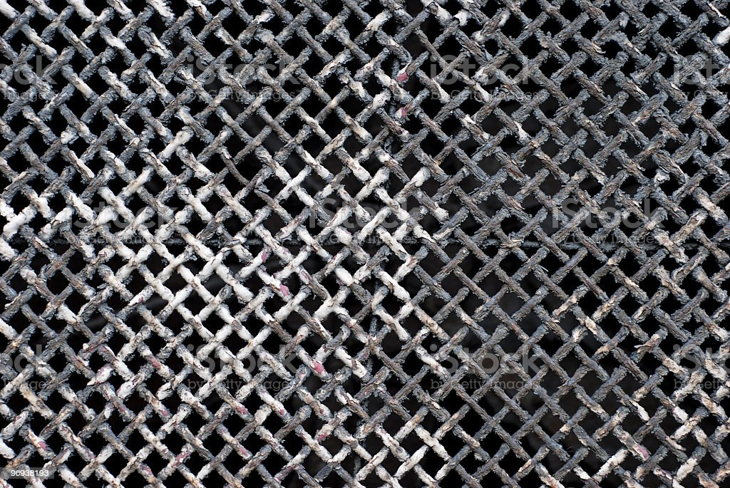Grunge old metal grate texture royalty-free stock photo